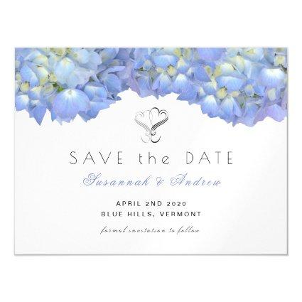 Magnetsic Blue Moon Hydrangea Save the Date Cards
