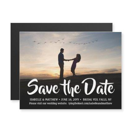 Magnetic Photo Wedding Save the Date One Picture