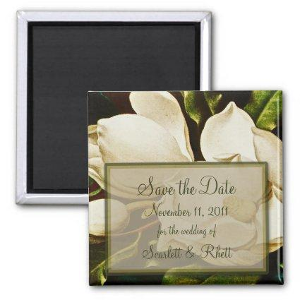 Magnolias Wedding Save the Date Magnet