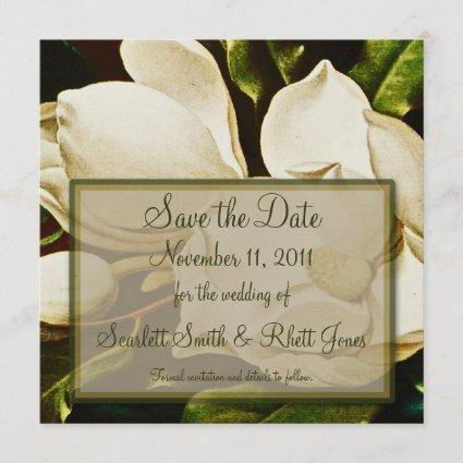 Magnolias Wedding Save the Date Notice