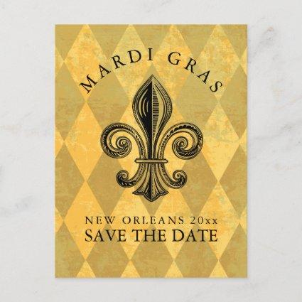 Mardi Gras Party Save the Date Announcement