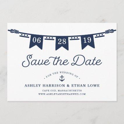 Maritime | Nautical Flags Save the Date