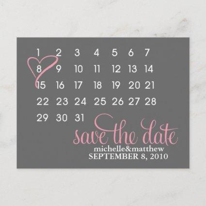 Mark Your Calendar Wedding Save The Date Announcements Cards