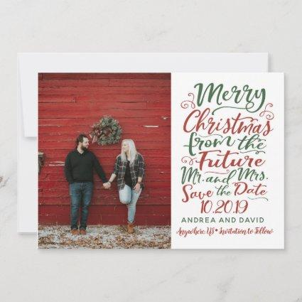 Married Christmas Save The Date Card