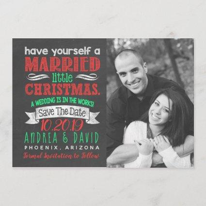 Married Little Christmas Photo Save The Date