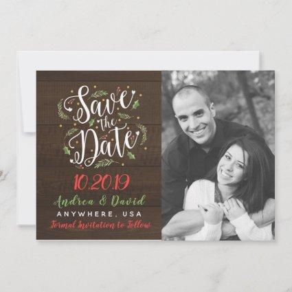 Married Little Christmas Photo Save The Date Rusti