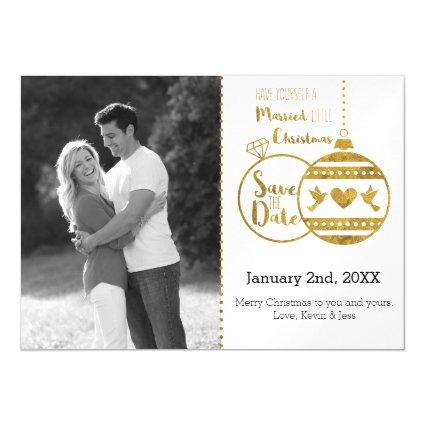 Married Little Christmas Save the Date Magnetsic Invitation