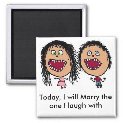 Marrying My Best Friend Magnets