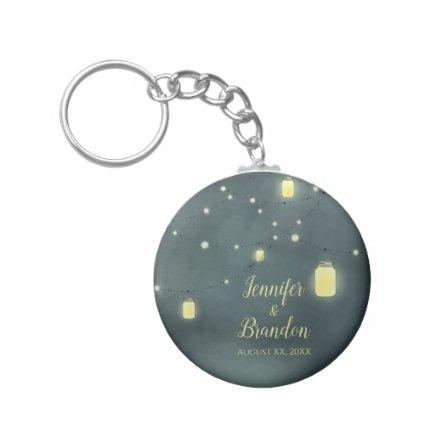 Mason Jars Summer Night Keychain