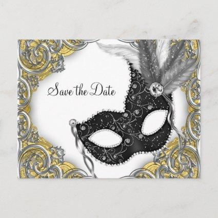 Masquerade Save The Date Announcement