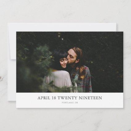 Maximum Minimalism Photo Save the Date Cards