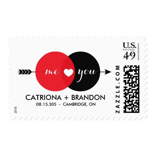 Me You Venn Diagram Vintage Save The Date Stamp Save The Date Cards
