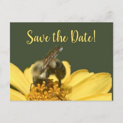 Meant to Bee Green and Yellow Save the Date Holiday