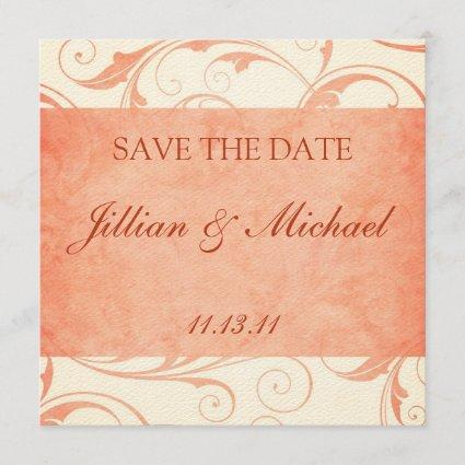 "Melon and Cream Custom Wedding ""Save the Date"" Save The Date"