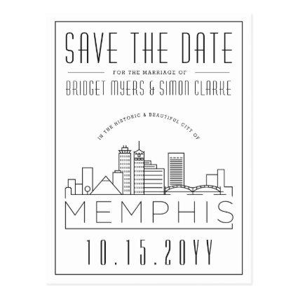 Memphis Wedding | Stylized Skyline