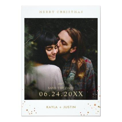 Merry Christmas and Save the Date Invitation