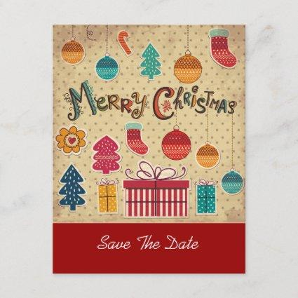 Merry Christmas Holiday Save The Date Cards