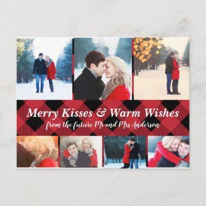 Merry Kisses Warm Wishes Holiday Save Date Photos Announcement