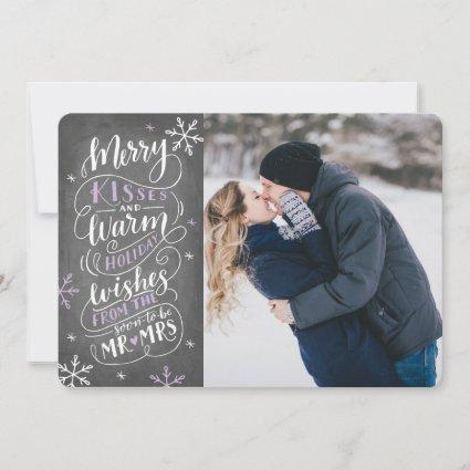 Merry Kisses Warm Wishes  Save The Date Photo