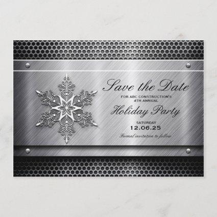 Metal Business Holiday Party Save The Date