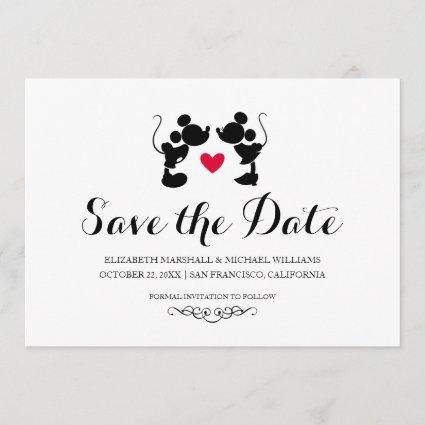 Mickey & Minnie Wedding | Silhouette Save the Date