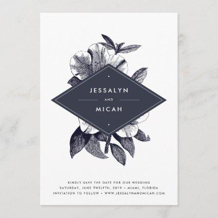 Midnight Orchid Save the Date Card