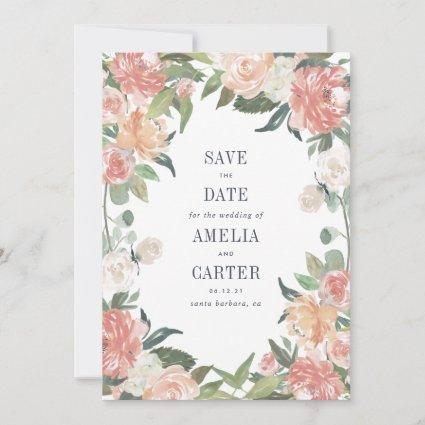 Midsummer Floral Save the Date Card
