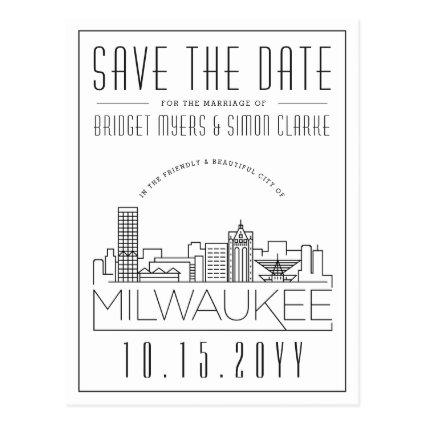 Milwaukee Wedding | Stylized Skyline