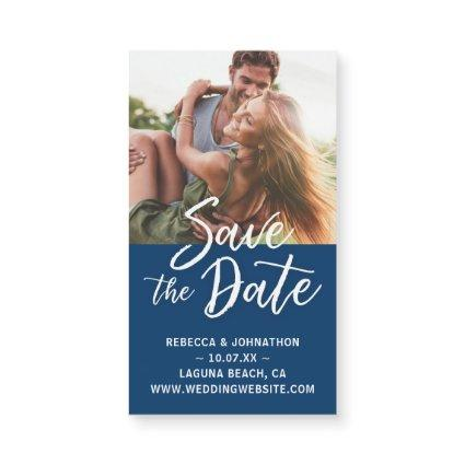 Mini Save the Date Magnets Cheap | Dark Blue