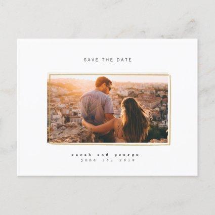 Minimal Lines Save the Date Photo Cards