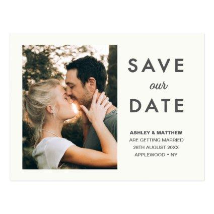 Minimal Save our Date Modern Stylish Photo Cards