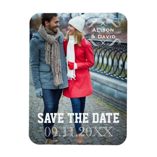 Minimal Save the Date simple wedding Magnetss