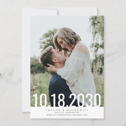 Minimal Simple Bold Date Overlay Wedding Save The  Save The Date