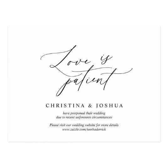 Minimal simple, Wedding invitation Postponement