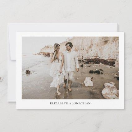 Minimalist Borders Photo Wedding Save the Date
