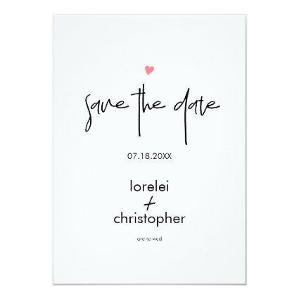 Minimalist Chic Modern Typography Save The Date Invitation