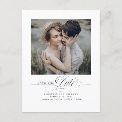 Minimalist Elegant Modern Save the Date Photo Announcement