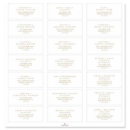 Minimalist Gold Typography Guest Address Labels