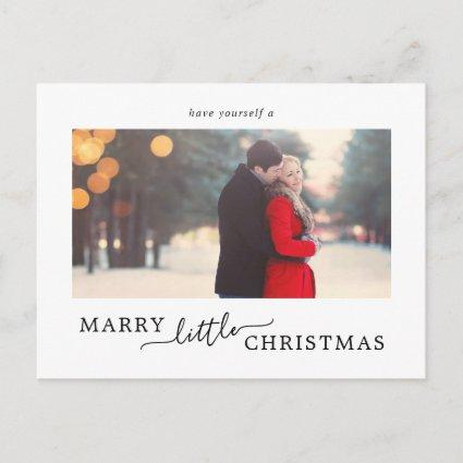 Minimalist Marry Little Christmas Save the Date Holiday