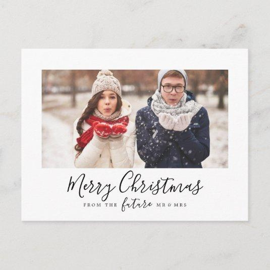 Minimalist Merry Christmas Save the Date Photo Holiday