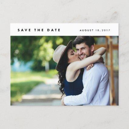 Minimalist Modern Photo Save the Date Cards