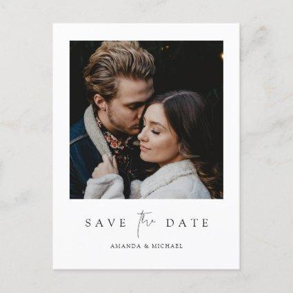 Minimalist Modern Photo Save the Date WeddIng Invitation