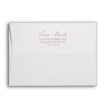 Minimalist Rose Gold Wedding Invitation Envelope