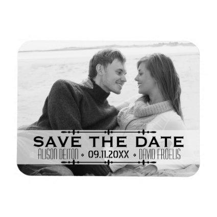 Minimalist Save the Date simple wedding Magnets
