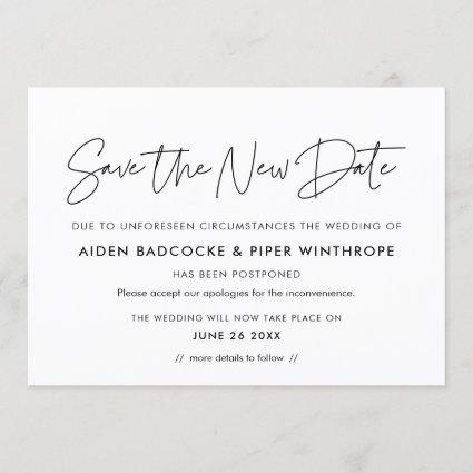 Minimalist Save the new date wedding announcement