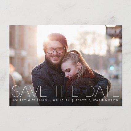 Minimalist Simple Photo Save the Date Card