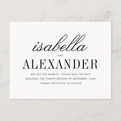 Minimalist Typography & Custom Photo Save The Date Announcement
