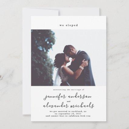 Minimalistic Elopement Photo Save The Date