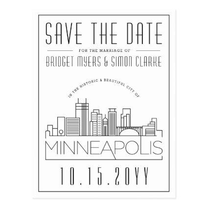 Minneapol Wedding | Stylized Skyline