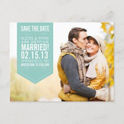 Mint Save The Date Announcements Cards
